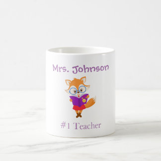 Number 1 Teacher Personalize Coffee Mug