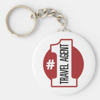 Number 1 Travel Agent Basic Round Button Key Ring