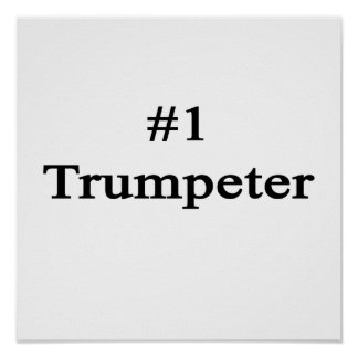 Number 1 Trumpeter Poster
