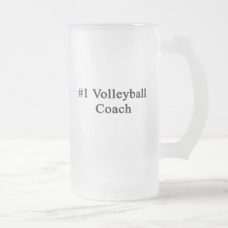 Number 1 Volleyball Coach Frosted Glass Mug