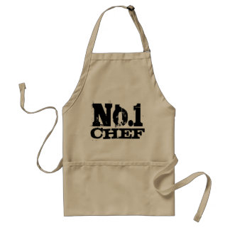 Number 1 - Worlds best chef aprons for men | Beige