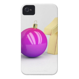 Number 2018 with Christmas ball Case-Mate iPhone 4 Case