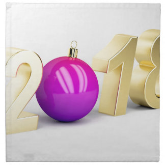 Number 2018 with Christmas ball Napkin