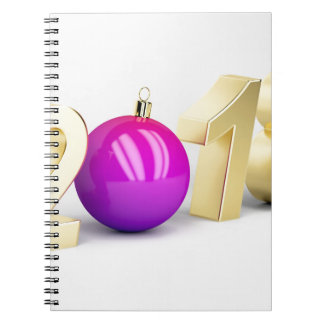 Number 2018 with Christmas ball Notebooks