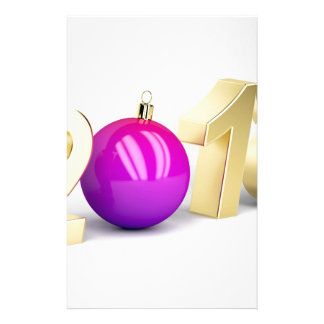 Number 2018 with Christmas ball Stationery