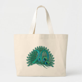 Number 20 / age / years / 20th birthday template jumbo tote bag