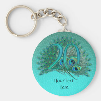 Number 20 / age / years / 20th birthday template basic round button key ring