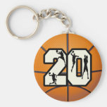 Number 20 Basketball Key Chains