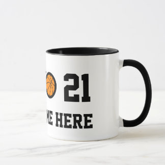 Number 21 basketball mug | Personalizable