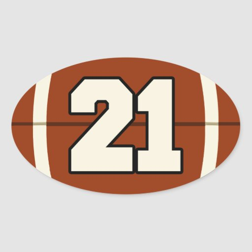 Number 21 Football Sti...