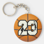 Number 23 Basketball Key Chain