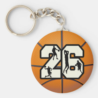 Number 26 Basketball Key Ring