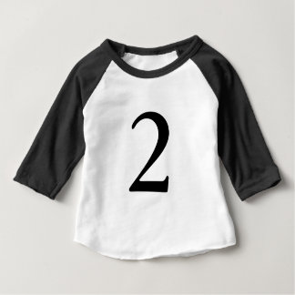 Number 2 age birthday t shirt