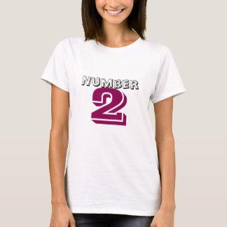 Number 2 Logo Design T-Shirt