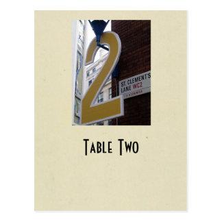 Number 2 table true ivory postcard