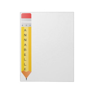 Number 2 Yellow School Pencil Notepad
