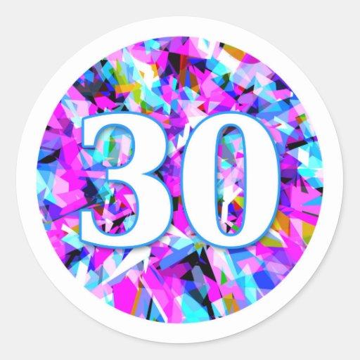 Number 30 - Round Sticker Round Sticker