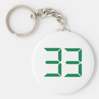 Number – 33 basic round button key ring