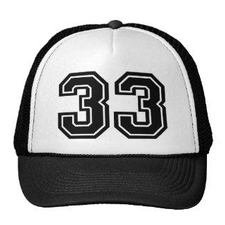 Number 33 cap