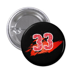 Number 33 - Square Button