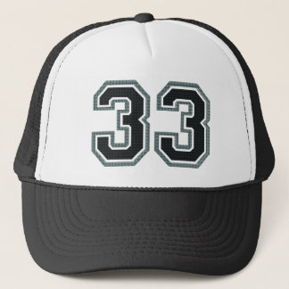 Number 33 trucker hat