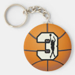Number 3 Basketball and Player Keychains