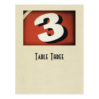 Number 3 table true ivory postcard