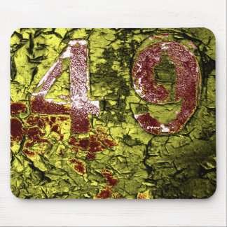 Number 49 mouse pad