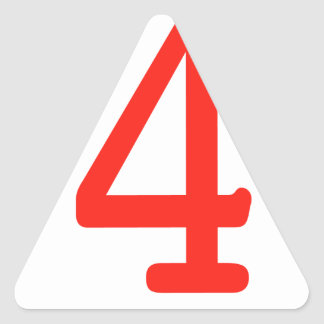 Number 4 triangle sticker