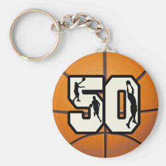 Number 50 Basketball Key Ring