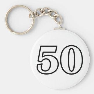 Number 50 key ring