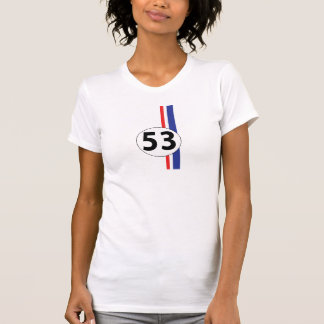 Number 53 racing stripes T-Shirt
