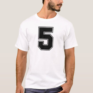 Number 5 front and backside print T-Shirt