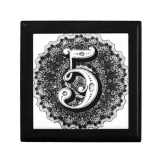 Number 5 gift box
