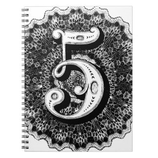 Number 5 spiral notebook