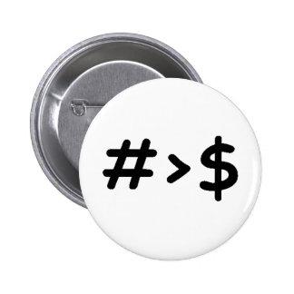 Number 6 Cm Round Badge