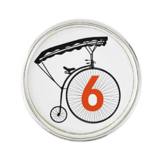 Number 6 Silver Plated Lapel Pin (great gift)