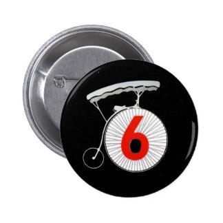 Number 6: The Prisoner 6 Cm Round Badge