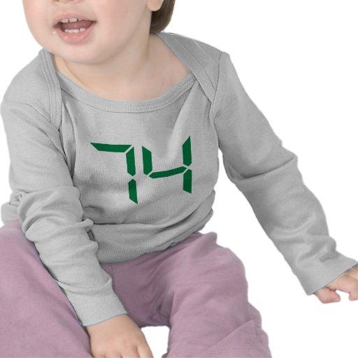 Number – 74 tshirts