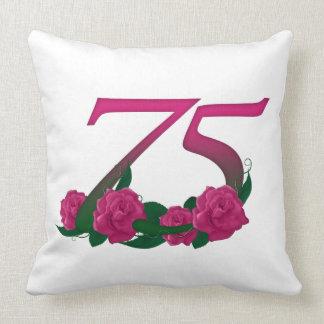 """Number 75 Throw Pillow 20"""" x 20"""""""