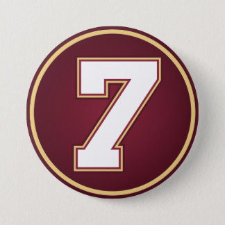 Number 7 7.5 cm round badge