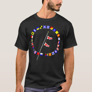 Number 88 Nautical Signal Flag Hoist T-Shirt