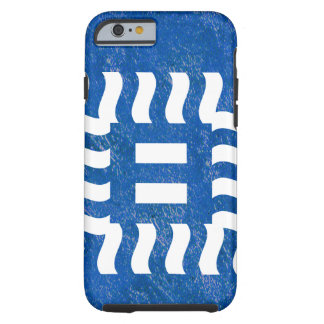 Number 8 reverse on blue tough iPhone 6 case