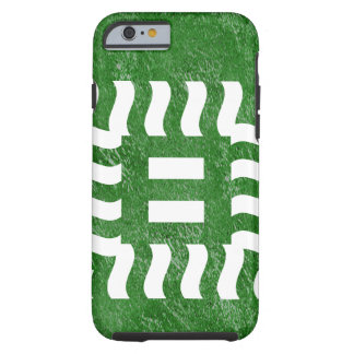 Number 8 reverse on green tough iPhone 6 case