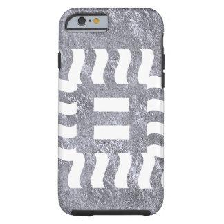 Number 8 reverse on medium gray tough iPhone 6 case