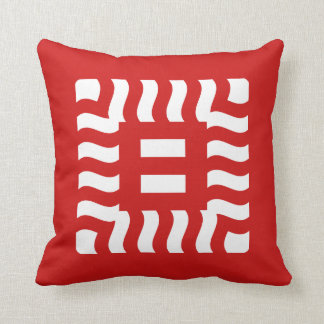 Number 8 reverse on Red Cushion