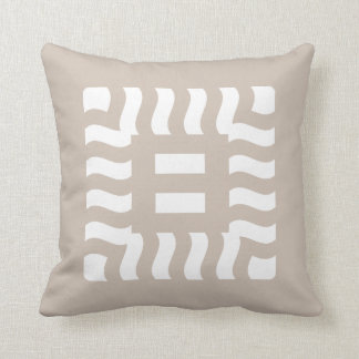 Number 8 reverse on Taupe Cushion
