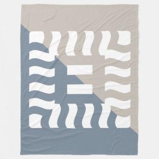 Number 8 split reverse light slate gray/taupe fleece blanket