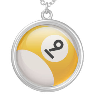 NUMBER 9 BILLIARDS BALL Necklace