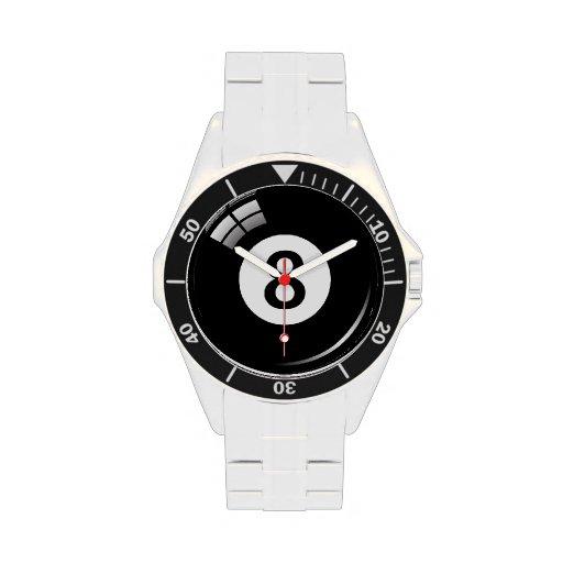Number eight pool / billiard ball wristwatch